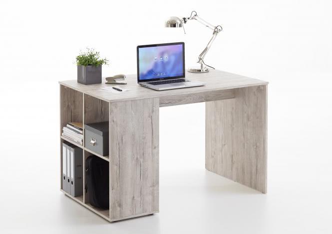 GENT Schreibtisch mit Regal von FMD Sandeiche | Büro > Bürotische > Schreibtische | wohnorama DE