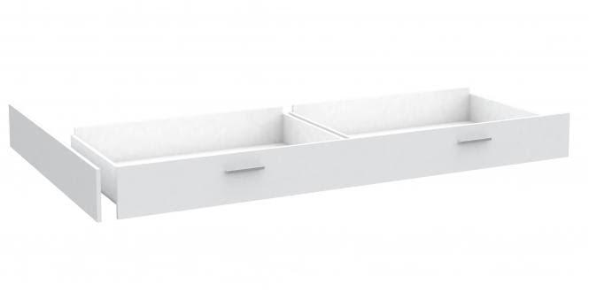 Bettschubkasten Snow für 140x200 Jugendbett Weiß