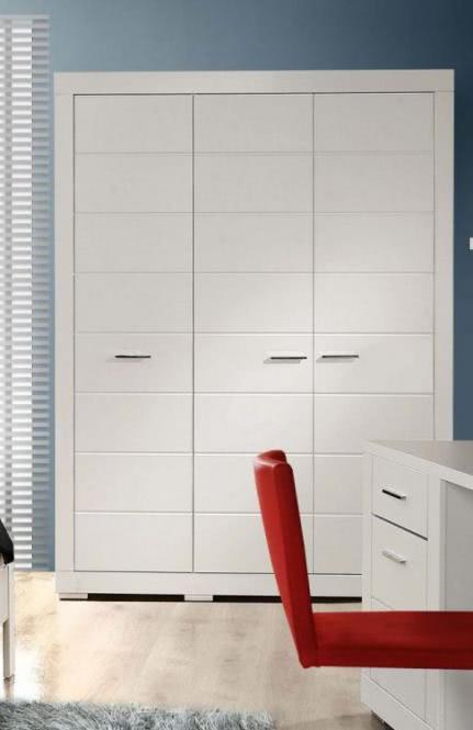 Kleiderschrank 3-türig Weiß