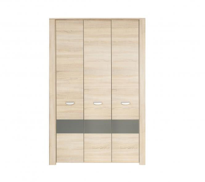 Kleiderschrank Yoop 3-türig Sonoma Eiche/Grau Anthrazit