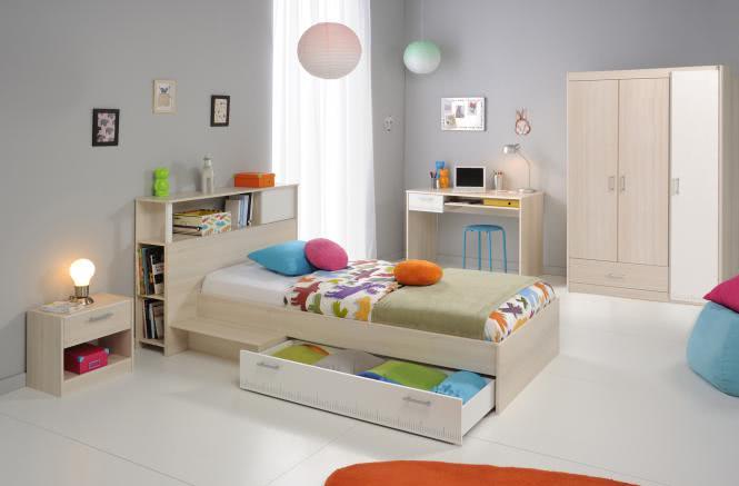 Kinderzimmer Set 5-tlg Akazie/Weiß | Kinderzimmer > Komplett-Kinderzimmer | wohnorama DE