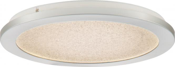 LED-Deckenleuchte Ø 40 cm IKOMA von Nino Kunststoff silberfarbig