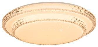 LED-Deckenleuchte Ø 40 cm SENDAI von Nino Kunststoff weiss / diamond shade
