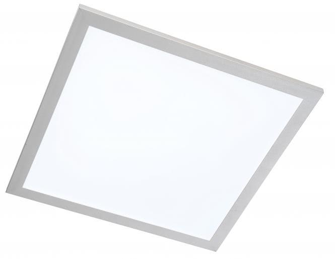 LED Deckenleuchte 40x40 cm PANEL von Nino Titanfarbig / Weiss