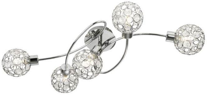 LED Deckenleuchte 5-flg LARGO von Nino Chrom / klar