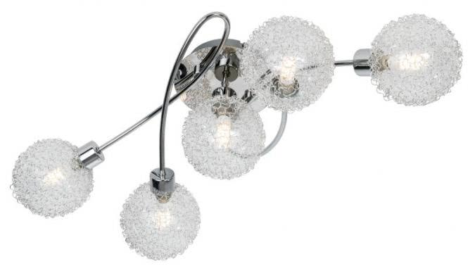 LED Deckenleuchte 5-flg RYDER von Nino Chrom
