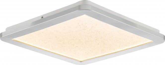 LED-Deckenleuchte ca. 60 x 60 cm IKOMA von Nino Kunststoff silberfarbig