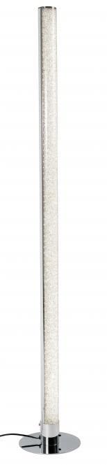 LED-Stehleuchte LUGO von Nino chromfarbig / Acrylsteine