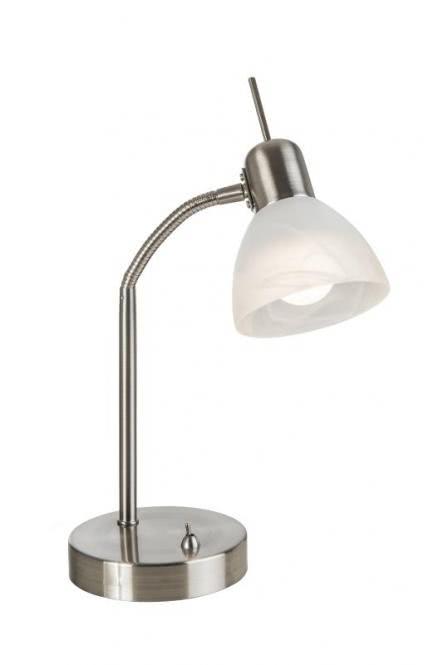 LED Tischleuchte 1-flg DAYTONA von Nino Nickel matt / Alabaster Weiss