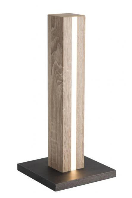 LED Tischleuchte SELF von Nino Eiche hell / Graphit