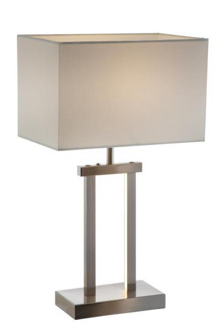 LED Tischleuchte SYDNEY von Nino Nickel matt / Creme