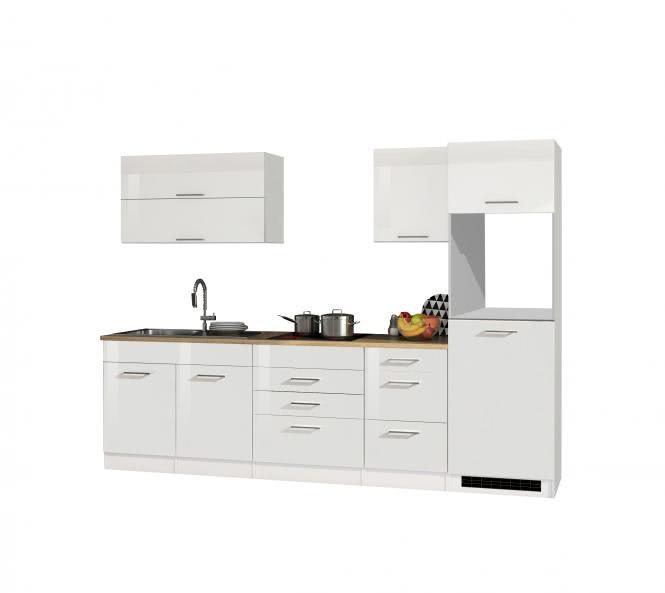 Leerblock 290 für Kühlschrank MAILAND von Held Möbel Weiss / Eiche Sonoma