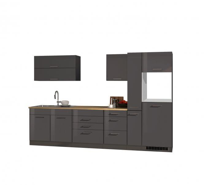 Leerblock 320 für Kühlschrank MAILAND von Held Möbel Graphit / Eiche Sonoma