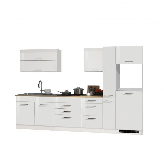 Leerblock 320 für Kühlschrank MAILAND von Held Möbel Weiss / Eiche Sonoma