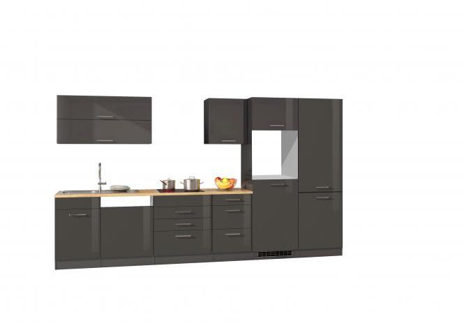 Leerblock 360 für Geschirrspüler/Kühl-/Gefrierkombi MAILAND von Held Möbel Graphit / Eiche Sonoma