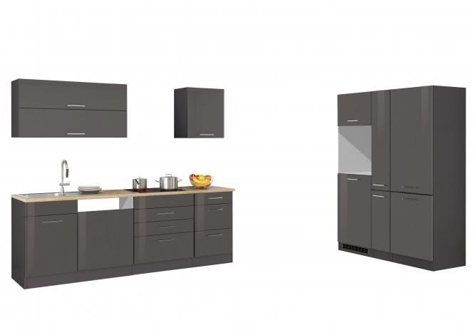 Leerblock 390 für Geschirrspüler/Kühl-/Gefrierkombi MAILAND von Held Möbel Graphit / Eiche Sonoma
