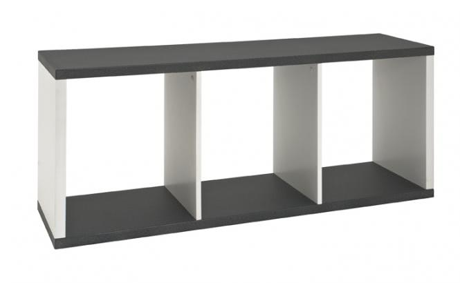 Lowboard 87586 von HAKU Granitoptik / Weiss