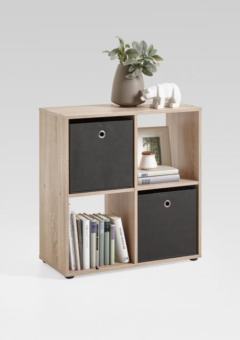 MEGA 400 Würfelregal 4 Fächern von FMD Eiche | Wohnzimmer > Regale > Regalwürfel | Eiche - Nachbildung