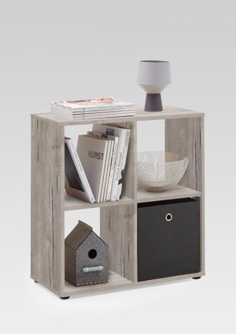 MEGA 400 Würfelregal 4 Fächern von FMD Sandeiche | Wohnzimmer > Regale > Regalwürfel | Nachbildung