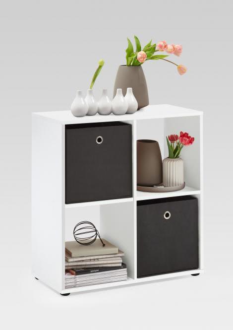 MEGA 400 Würfelregal 4 Fächern von FMD Weiß | Wohnzimmer > Regale > Regalwürfel | Weiß