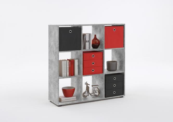 MEGA 5 Würfelregal 6 Fächern von FMD Beton | Wohnzimmer > Regale > Regalwürfel | Beton