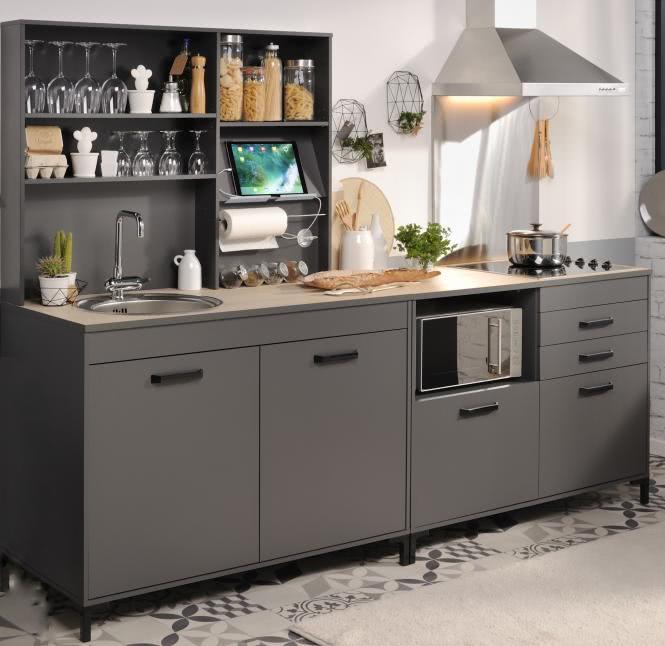 Einbauküche 3-tlg ohne E-Geräte Moove 2 von Par...