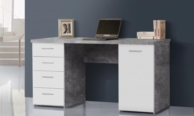 Schreibtisch NET 106 von Forte Beton / Weiss