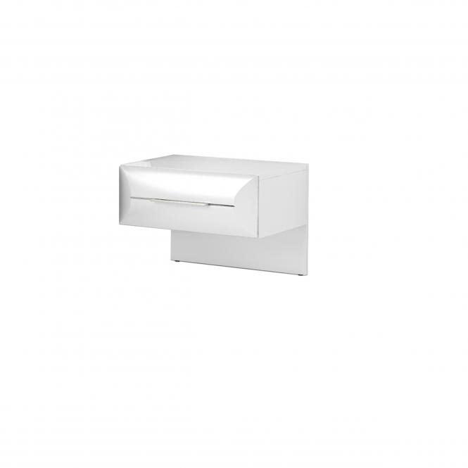 Nachtkonsole Atena A4AT00181 von Wohnorama Hochglanz weiß