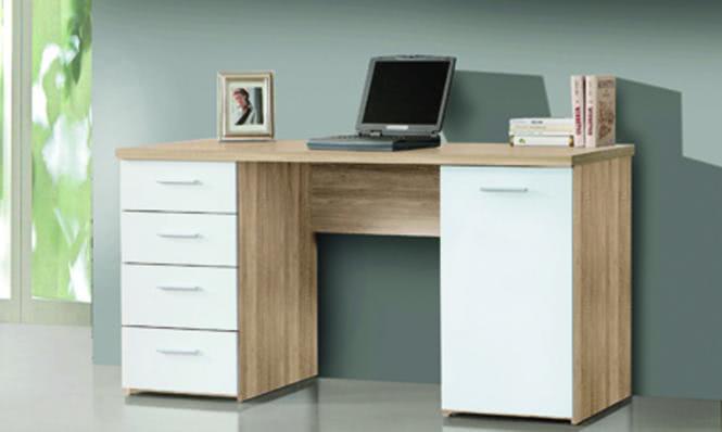 Schreibtisch Rita Sonoma Eiche/weiss