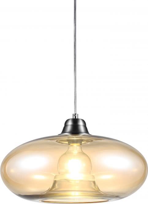 Pendelleuchte 1-flg LILLE von Nino Nickel matt / Glas amber