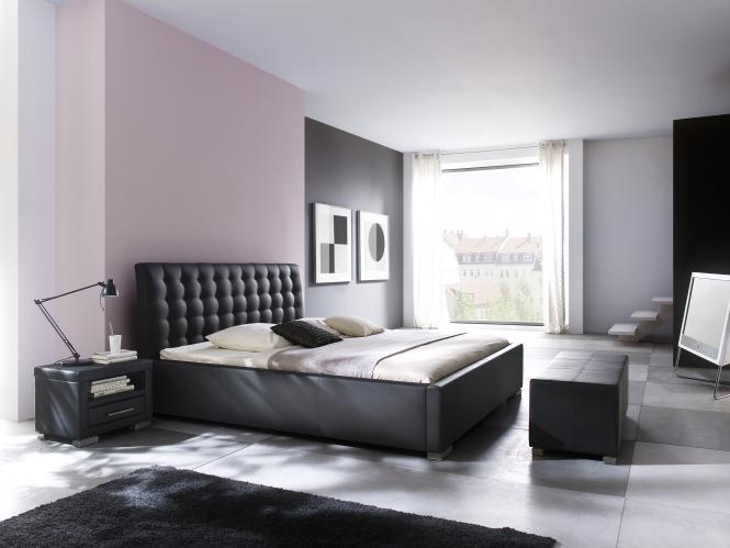 100x200 Polsterbett ISA Comfort von Meise Möbel Kunstleder schwarz