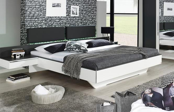 160x210 Komfortbett Colette von Rauch Dialog Alpinweiß / Graphit