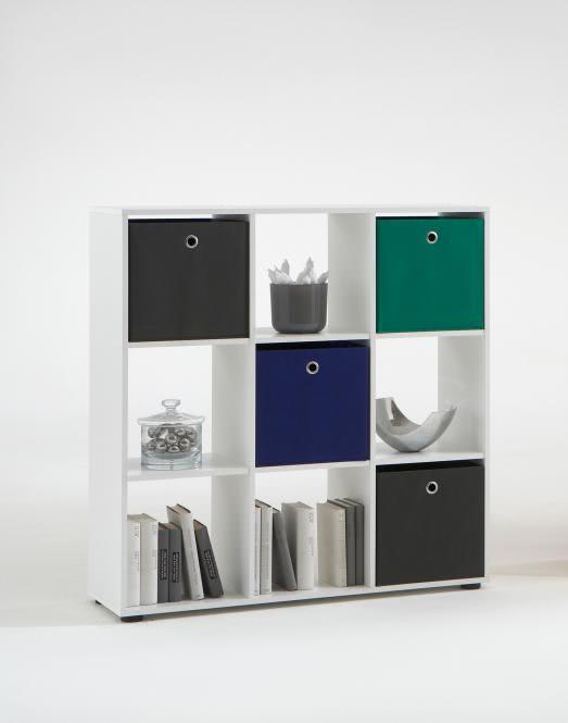 MEGA 5 Würfelregal 6 Fächern von FMD Weiß | Wohnzimmer > Regale > Regalwürfel | Weiß