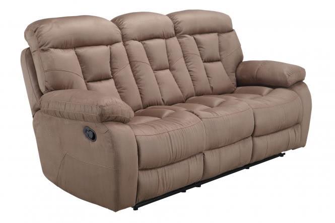 Recliner 3-Sitzer inkl 2-fach Relaxfunktion FM-394-3 von FEMO Hellbraun