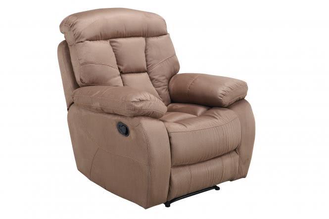 Recliner Sessel inkl manueller Relaxfunktion FM-394-1 von FEMO Hellbraun