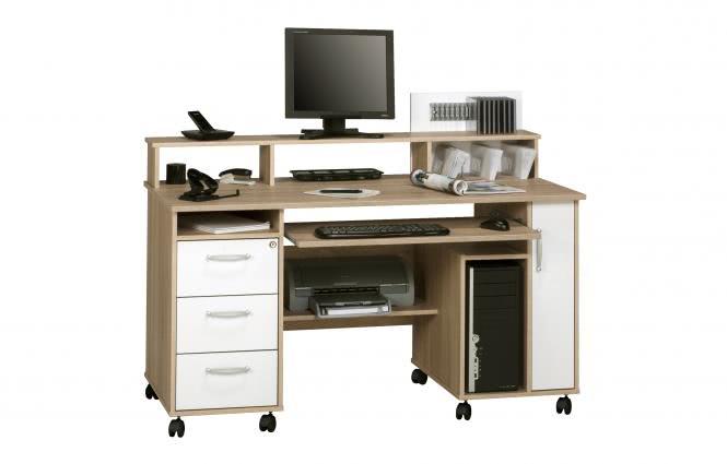 Schreibtisch / Computertisch Office 9475 von MAJA Sonoma Eiche / Icy Weiß