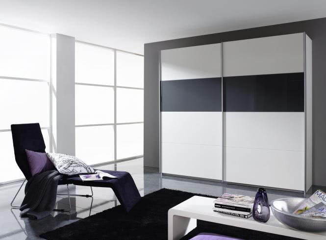 schwebet renschrank 2 trg quadra von rauch packs alpinweiss schwarz salon lima. Black Bedroom Furniture Sets. Home Design Ideas