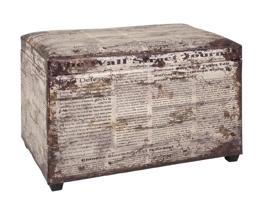 Sitztruhe 30786 von HAKU Vintage | Küche und Esszimmer > Sitzbänke > Sitztruhen | Mdf - Kunstleder - Polyester