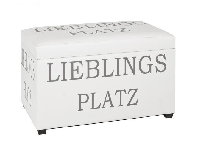 Sitztruhe 30959 von HAKU Weiss / Kupfer | Küche und Esszimmer > Sitzbänke > Sitztruhen | Weiss | Mdf - Kunstleder - Kupfer - Polyester