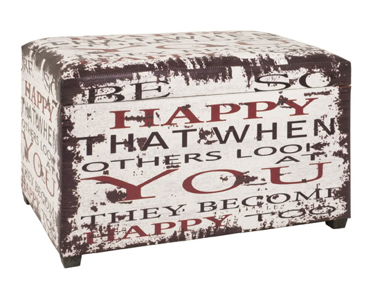 Sitztruhe 30978 von HAKU Vintage | Küche und Esszimmer > Sitzbänke > Sitztruhen | Mdf - Kunstleder - Polyester