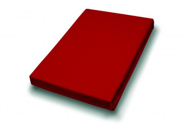 190x200 Jersey Spannbettlaken Piaza Rot von H.G. Hahn