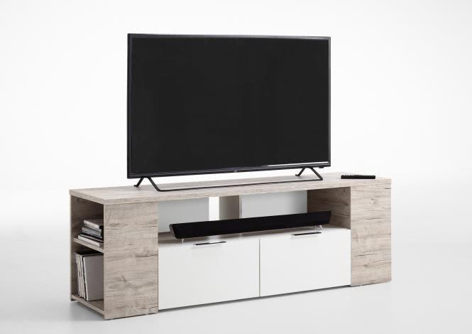 TABOR 1 TV Lowboard von FMD Sandeiche / Weiss