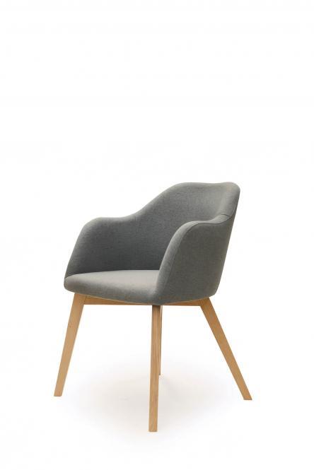 Sessel THEO von Standard DD Grau / Buche Natur