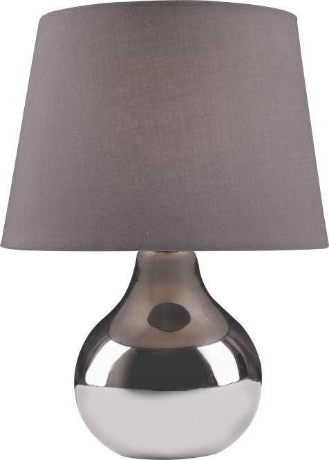 Tischleuchte 1-flg BEN von Nino chromfarbig / Schirm grau