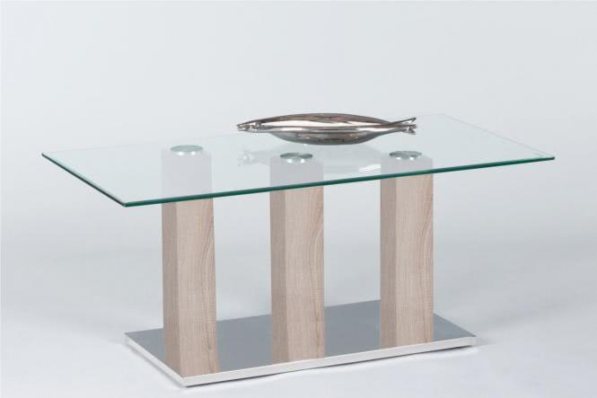 Couchtisch TOWERS von Stolkom Sonoma Eiche / Glas