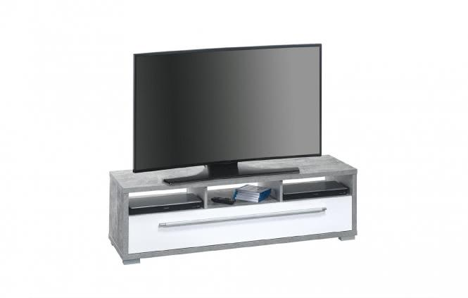 tv lowboard media 7645 von maja beton weiss hochglanz grundschuleoedt. Black Bedroom Furniture Sets. Home Design Ideas