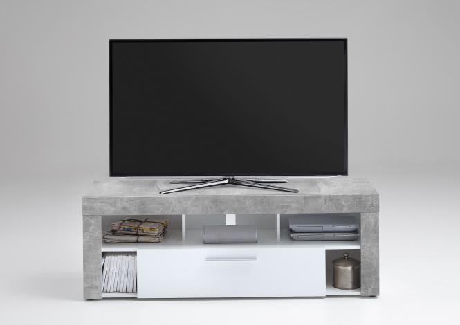 VIBIO 1 TV Lowboard von FMD Beton / Weiss