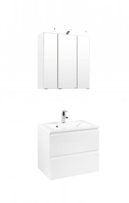 waschtisch set 60 cardiff inkl led beleuchtung von held m bel wei velo bossmann. Black Bedroom Furniture Sets. Home Design Ideas