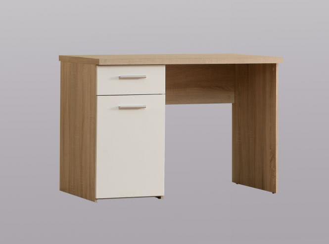 Schreibtisch 1-trg 1 Schubkasten Winnie von Forte Sonoma Eiche / Weiss