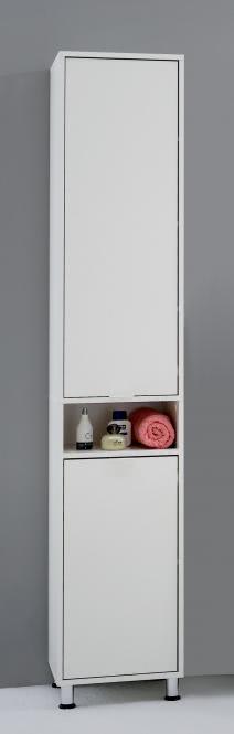 ZAMORA 1 Badezimmer-Hochschrank von FMD Weiss
